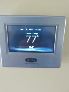 Carrier Infinity Controller Temperature