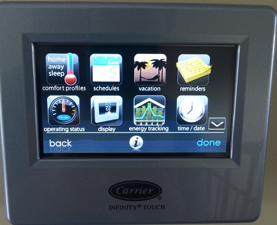 Infinity Touch Control Programmable Thermostat